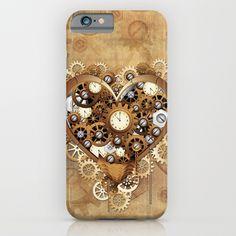 Steampunk Heart Love iPhone & iPod Case