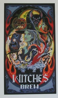 """Witches Brew""   All of our Witch Art and Halloween Art is for sale on Ebay or Etsy under screen name Sunbyrum. Copyright © 1999-2011 Byrum Collectibles All rights reserved. All of our designs, artistry, and photos are protected by copyright."