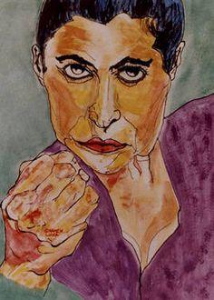 "Saatchi Art Artist CARMEN LUNA; Painting, ""FLAMENCO. Sara Baras.(SOLD)"" #art http://www.saatchiart.com/art-collection/Painting/FLAMENCO-por-Carmen-Luna/71968/78765/view"