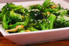 Sauteed Broccoli with Garlic, Pine Nuts, and Parmesan  [#SouthBeachDiet friendly #Recipe from Kalyn's Kitchen]