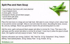 Split Pea and Ham Soup Recipe Card