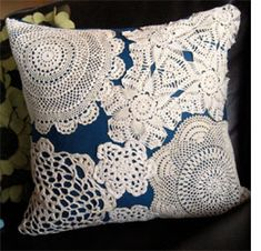 Home-Dzine - Crafts with doilies and lace  http://www.home-dzine.co.za/crafts/craft-laceanddoilies.htm#
