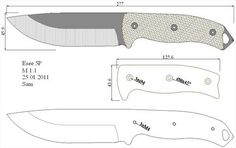 Random Knife templates for knife makers :) Cool Knives, Knives And Tools, Knives And Swords, Kydex, Knife Drawing, Knife Template, Knife Making Tools, Knife Patterns, Blacksmith Forge