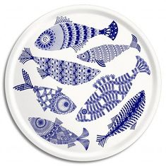 Ceramic Fish Plates - Ideas on Foter Pottery Painting, Ceramic Painting, Ceramic Art, Ceramic Plates, Ceramic Pottery, Crackpot Café, Keramik Design, Bordados E Cia, Fish Plate