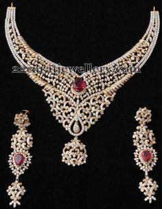 Jewellery Designs: Granduer Choker by Kothari Jewelry