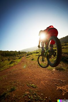 Mountain biking fun - Photo of Bryan Regnier in Yoqneam, Israel.