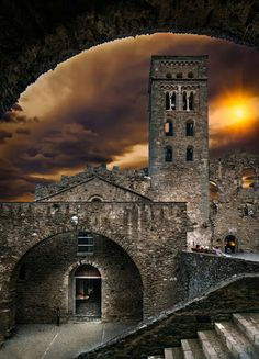 Sant Pere de rodes - By by Mariluz Rodriguez Alvarez  is a former Benedictine monastery in the comarca of Alt Empordà, in the North East of Catalonia, Spain. MASSI ROCK - Google+