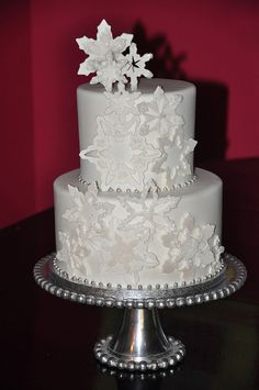 Winter White Snowflake Cake by Designer Cakes By April, via Flickr