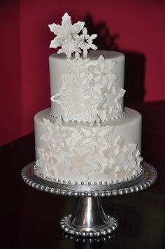 Winter White Snowflake Cake by Designer Cakes By April, via Flickr