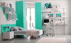 Room Decorating Ideas For Teenage Girls Room For Teens Girl Blue White Picture on Room Decorating Ideas for Teenage Girls