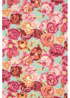 Dash and Albert Bed of Roses rug - my bestie, Sachia, bought this for her daughters play room - darling!