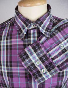 ROBERT GRAHAM Mens Shirt Size L Slim Fit Freshly Laundered Schooner Casual #RobertGraham #ButtonFront
