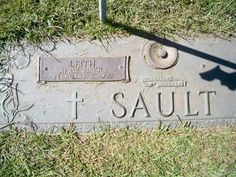 My Aunt Laura's Husband, Leith Sault's marker