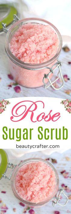 Rose Sugar Scrub Recipe - homemade rose sugar scrub is fragrant and nourishing f. Rose Sugar Scrub Recipe - homemade rose sugar scrub is fragrant and nourishing f. Sugar Scrub Recipe, Sugar Scrub Diy, Sugar Scrubs, Salt Scrubs, Diy Body Scrub, Diy Scrub, Bath Scrub, Zucker Schrubben Diy, Diy Cosmetic