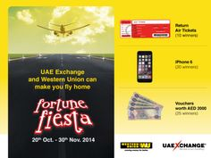 Win free air tickets to your home country. UAE Exchange and Western Union have…