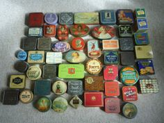 Collection of sample biscuit tins ,52 in total