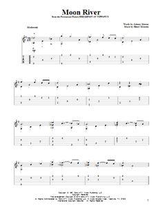 Henry Mancini: Moon River - Partition Tablature Guitare - Plus de 70.000 partitions à imprimer !