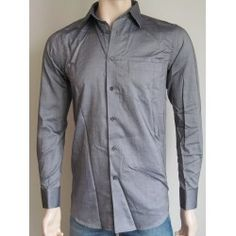 Next pánská košile, dlouhý rukáv šedá