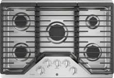 GE PGP7036SLSS 36 Built-In Gas Cooktop with Max Burner System, LED Blacklit Knobs, Simmer Burner, Continuous Grates, Dishwasher Safe Grates, 5 Sealed Burners and ADA Compliant: Stainless Steel