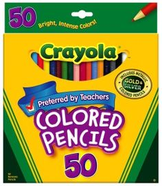 Crayola Long Colored Pencils Need for school Brand you can trust Contains 50 bright intense colors Pre-sharpened long pencils that are strong and durable