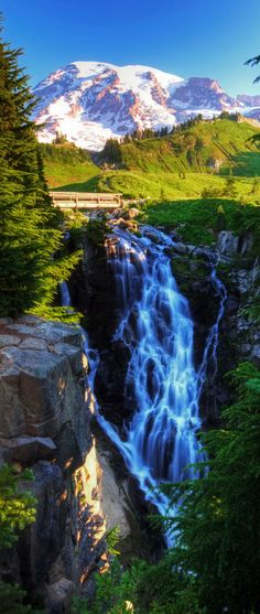 to go: Myrtle Falls, Mt. Rainier National Park, USA (Photo by vtgohokies) Places Around The World, Oh The Places You'll Go, Places To Travel, Places To Visit, Beautiful Waterfalls, Beautiful Landscapes, Beautiful World, Beautiful Places, Photos Voyages