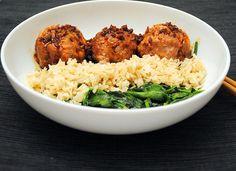 Asian Turkey Meatballs with #GlutenFree Teriyaki Sauce