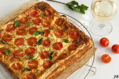 Courgette taart met feta en tomaatjes