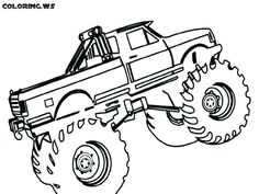 21 Best Truck Coloring Pages Images On Pinterest Coloring Pages