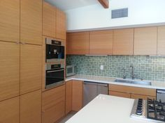 Loving the bamboo cabinets