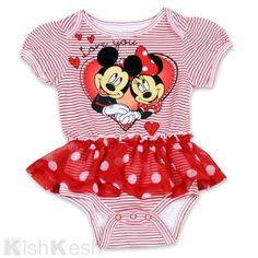 Minnie Mouse Baby Girl Tutu Creeper #Disney #Minnie #BabyClothing