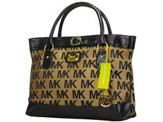Michael Kors Brown With Black Classic Tote