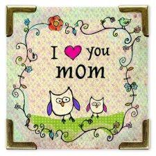 I Heart You Mom Corner Magnet
