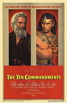 The Ten Commandments portrays a very old old story ... still the contest ... still the conflict ... let us pray that it is not a combat to be witnessed still again.  Would the crazy people down front please sit down, and be quiet, or please leave the theater!