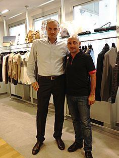Paolo Bettini, ex ciclista su strada italiano, campione olimpico su strada ai Giochi di Atene 2004 e campione del mondo di specialità nel 2006 e nel 2007, in visita alla sede di Navigare