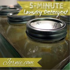 5-Minute Laundry Detergent   Jornie.com ~ Awesome DIY tutorial, so quick & costs only pennies per load of laundry! **PIN TO SAVE FOR LATER**