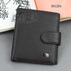 Men Septwolves Brown Genuine Leather Bifold Wallet  391204