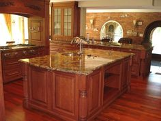 Kitchen Countertops Black Granite Faucets Ideas For 2019 Countertop Prices, Brick Kitchen, Kitchen Flooring, Granite Countertops, Brick Wall Kitchen, Kitchen Island Countertop, Modern Kitchen, Kitchen Countertops, Granite Faucet