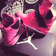 dope, hot pink, jordans, shoes