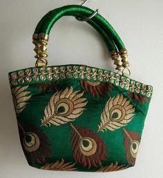 580e4362abee Traditional Peacock Printed Handbags