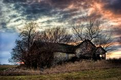 Amelia's house looks a little bit like this: The Old Stone House - Landscape Photography, Nature Photography, HDR Photography, Country, Rural, Historic, Fall, Autumn, Iowa