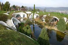 Earth dome houses that remind me of hobbit holes!