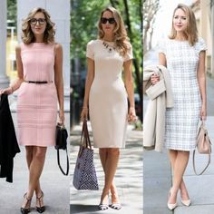 Swans Style is the top online fashion store for women. Shop sexy club dresses, jeans, shoes, bodysuits, skirts and more. Office Wear Women Work Outfits, Classy Work Outfits, Elegant Office Wear, Work Fashion, Fashion Outfits, Office Fashion, Simple Dresses, Dresses For Work, Vestido Casual