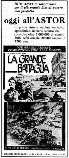 """""""La grande battaglia"""" (Osvobozhdenie: Napravleniye glavnogo udara, 1971) di Yuriy Ozerov, con Mikhail Nozhkin e Nikolay Olyalin. Italian release: October 22, 1971 #MoviePosters"""