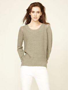 White + Warren Hi-Low Bateau Sweater