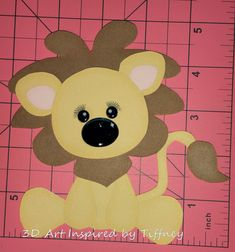 B064 3D Hand Cut Paper Piecing Jungle Lion Zoo Scrapbooking Cardmaking - Pre-Made Pages & Pieces