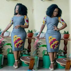 Jean Gown With Ankara Patches Top 15 Styles Casual Looks