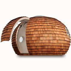 The Inspiration Archipod- a little coconut-looking circle pod room thing that I would very much like to see up close and maybe sit in to read.