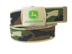 John Deere Boys Canvas Camo Belt Tractorup.com John Deere Store, John Deere Kids, John Deere Lawn Mower, Kids Hats, Camo, Baby Boy, Canvas, Accessories, Belts