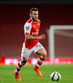 Jack Wilshere in a post injury Arsenal U21 match