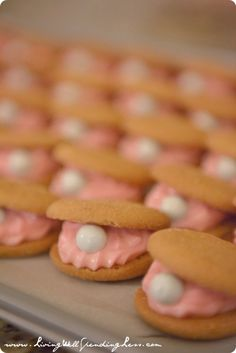 Oyster Pearl Cookies (great for Mermaid Party)